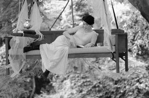 See? Reading in bed all day is fine. So long as your bed is hoisted into the treetops.